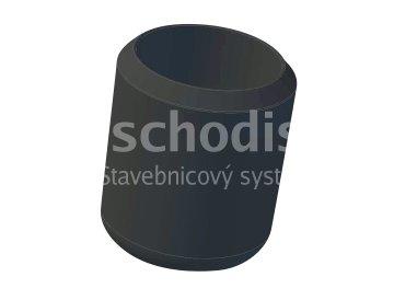 Endstück des verzinkten Stab 10 mm - PVC schwarz