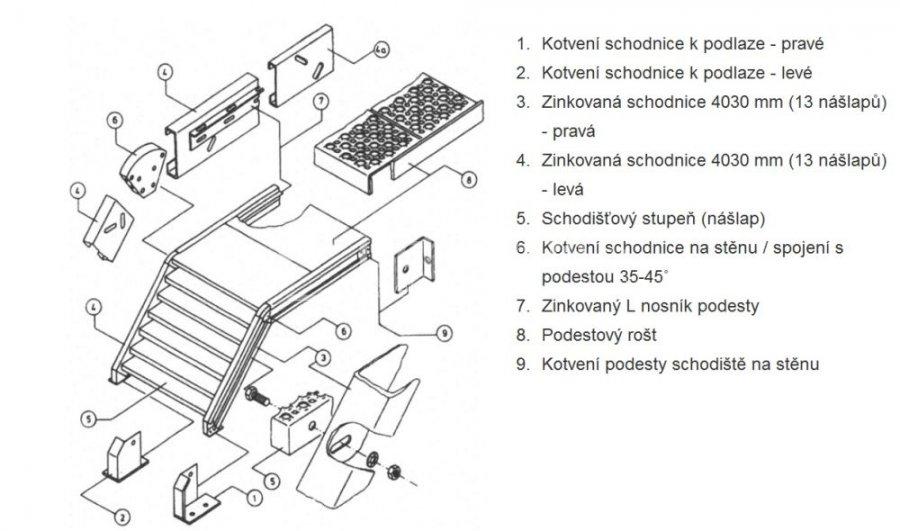 treppenstufe gitterrost 1000x270x30 mm stufen aussen. Black Bedroom Furniture Sets. Home Design Ideas