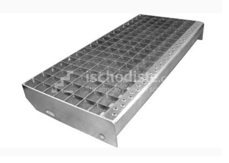 Treppenstufe GITTERROST 1200 x 270 x 40 mm - 30/30 mm