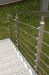 Viereckiger Edelstahl-Geländerhandlauf 40 x 40 mm – 1 m