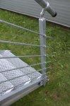 Verzinkter Geländerpfosten 40 x 40 mm