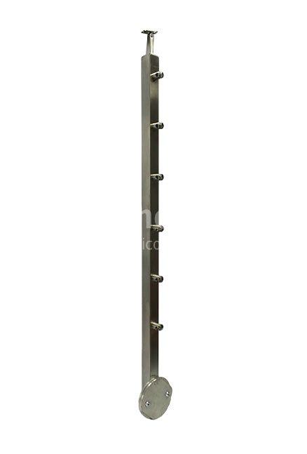 Edelstahl-Geländerpfosten 40 x 40 mm